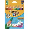 BIC Etuis de 12 crayons Evolution Triangle